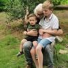Wilchert met kleinzoon Morris (2,5) en Milan (11)